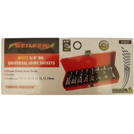 Universal Joint Sockets 8 Piece